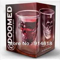 Crystal Skull Head Vodka Shot Glass Drinking Ware for Home Bar 2.5 ounces