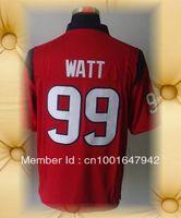 Brand New Houston Football Jerseys 99 J.J. Watt Red Blue White Game Jerseys