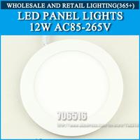 10pcs/lot LED Panel Lights ceiling lighting 12W 860lm Cold white/warm white AC85-265V Free Shipping