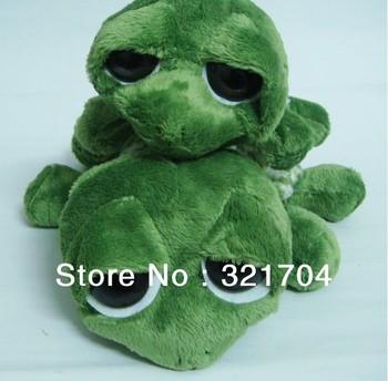 Free shipping,Stuffed plush toys, lovely green plush toys big eyes big eyes turtle, smiling turtle, children's plush toys