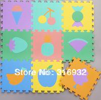WM018 Baby Floor Mat Children's Environmental Tasteless Eva Foam Mat Eva Mats, pattern: FRUIT, 9 pcs/pack