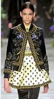 female fashion gorgeous leopard head flower print silk baseball uniform jacket long-sleeve outerwear