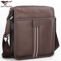 SEPTWOLVES man bag male shoulder bag cowhide messenger bag backpack 1141 - 02