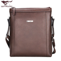 Male SEPTWOLVES backpack casual shoulder bag fashion messenger bag commercial man bag 2071 - 02