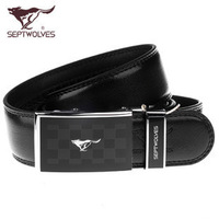 SEPTWOLVES strap male automatic buckle genuine leather men's cowhide belt