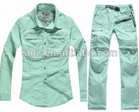 Free shipping Ladies Fashion Quick Dry Set Outdoor Breathable Brand Jacket and Pants Hiking Wear for Women C99