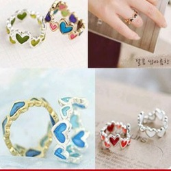 Min Order15$(mix order) Free Shipping New Arrival Fashion Style Charming Colorful Sweet Lovely Crown RingsCG2502(China (Mainland))