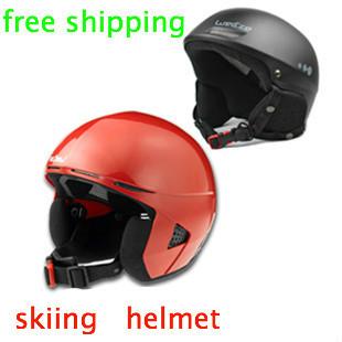 Ski protective equipment/single/double plate skiing helmet adults ski helmet