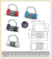 freeshipping 5 Digit Metal Combination Lock Password Number Security Plus Padloc