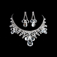 shining jewelry set for bride,rhinestone tessels under rhombus as drops,free shipping by CPAM on MIN.ORDER