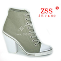 Z . ash fashion women's shoes high-top shoes olive canvas fashion cg1505