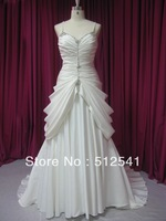 Wow Actual Images Gold Sheath Strapless Sweep Train Handmade Flowerprom Sequin Gorgeous 2013 dresses M-126