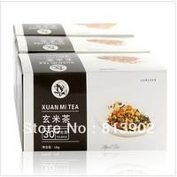 Free Shipping 120g Premium Brown Rrice Green Tea Genmaicha  China Organic  Kirara rice tea Malva Verucitillata leaf