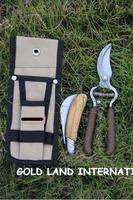 Free shipping garden tools scissors+knife+toolkit/set