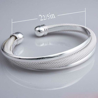 Factory Price Silver Plated Bangle wholesale/High quality hot selling Silver bangle bracelets for women/silver jewelry for women