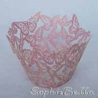 Wedding W009F 24 pcs (2 bags)  paper cupcake packaging cupcake wrappers