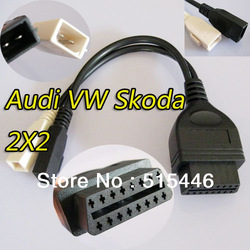 OBD2 VAG COM Adapter Connector Cable VW Skoda 2x2(China (Mainland))