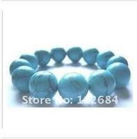Natural 14 mm turquoise bracelets