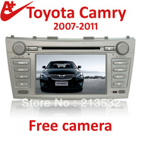 For Toyota Camry 2007-2011 HD car radio dvd player with navigation touch screen free camera