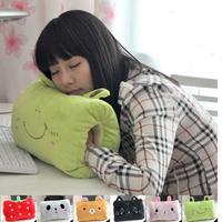 Free shipping Warm winter cute cartoon panda rabbit rabbit wool your hand over your warm gloves muff siesta pillow