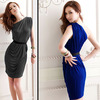 Free shipping Evening Dress/ Inclined Shoulder Dress/ Hot Selling Party Dress/Evening Gown