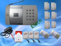 Freeshipping 6 Door Sensor 99-Zone Voice Wireless PSTN Burglar Home Security Alarm Systems With Auto Dialer S215