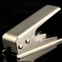 for iphone 5 Card to Nano Sim Card Cutter,SIM Card Cutter Cutting for iphone5 silver color + retail package