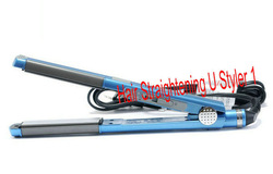 "NEW blue PRO Nano Titanium Ceramic Hair Straightening flat iron U Styler 1"" Drop shipping BL1U(China (Mainland))"