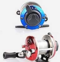 free shipping Small water droplets round the raft wheel ice fishing round metal foot fish reel dy322
