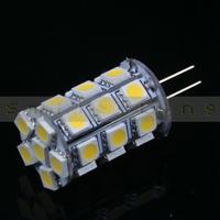 5 pcs G4 4W 440-Lumen 27 SMD 5050 LED Light White/ Warm White Bulb Lamp DC 12V