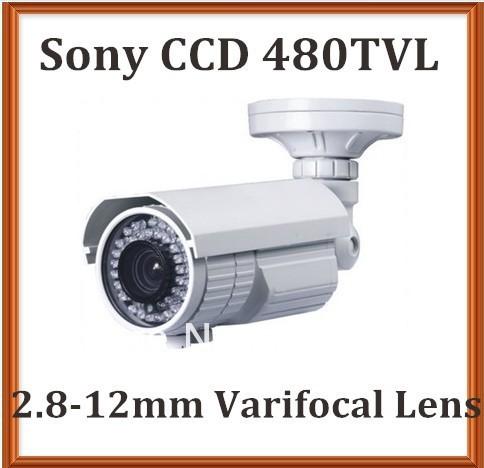 Bullet Camera CCTV Sony Super HAD CCD 480TVL 2.8-12mm megapixel varifocal lens 42LEDS 40m outdoor infrared security camera(China (Mainland))
