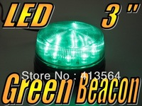 12V Green 3 inch 76mm Diameter Flashing LED Safety Beacon Warning Flash Lights Globes Bulb come with extra spacer various height