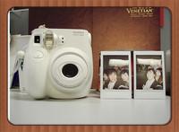 freeshipping Fuji mini 7 s mini instant camera Japan EXpress Fuji instax mini 25 White Camera