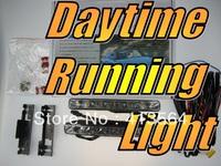 12V 6W LED Daytime Running Lights Straight Type DRL Super Bright White Bright Headlamp Daylight Kit Fog Lamp Day Time Headlight