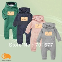 G*P brand baby hooded romper,4 colors unisex, long sleeve bodysuit / jumpsuits,infant clothing 10#297