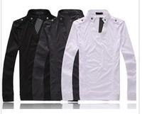 Men's T-shirts Slim Fit Color Stylish V Neck Long Sleeve T-shirts fashion shirt tops, maxi 5 colors,Q160