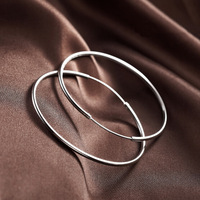 OYAG JEWELRY! Wholesale 100% Real 925 Sterling Silver Women Hoop earring.TOP quality.Diameter 3.8CM