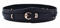 Fashion women's genuine leather wide belt alloy pin buckle wide strap decoration belt all-match cummerbund