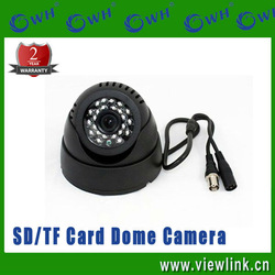 Discount Price!! Indoor Dome motion detection sd card camera on sale(China (Mainland))