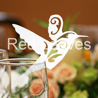 EC1108-07 12pcs/pack Laser Cutting Bird place Card(color and pattern can be customized)