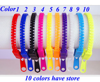 New to the wholesale price of 10 color in Europe and America zipper Bracelet