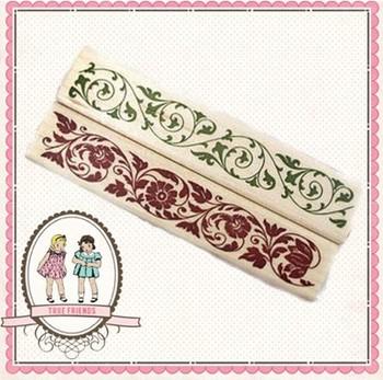 Fancy flower wood stamp 1.2USD/pcs 9.4cm*2cm*2.8cm 2 patterns
