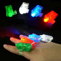 100pcs/lot Free shipping LED Finger Light,Laser Finger,Beams Ring Torch For Party,wedding celebration mix color simple package