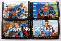 Free Shipping by DHL ! Fashion Super Man Wallet Cartoon Kid's Purse Children Wallet G2112 on Sale  Wholesale