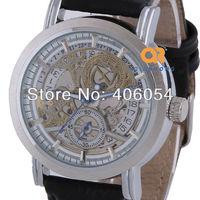 Navigation Mysterious Pattern Mechanical watches mans sports wrist watches best GOER brand name watch
