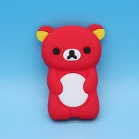 Sample Rilakkuma bear teddy Soft silicone gel Case skin cover cute 3D cases for ipod Nano 7 7th gen Freeshipping