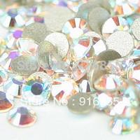 Free shipping 1440pcs ss6 crystal AB color  non hotfix  flat back  Rhinestones  for nail art and DIY decoration