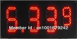 Hot sale USA Standard Super bright outdoor 8 inches led gas price sign 8.88 9 red color(China (Mainland))