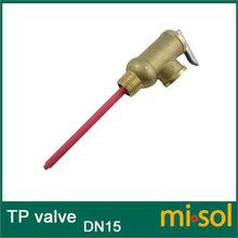 "1 pcs of 1/2"" DN15 Brass TP Valve, temperature pressure relief valve(China (Mainland))"