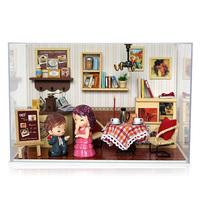 Diy  wood assembling house toys model novelty gift